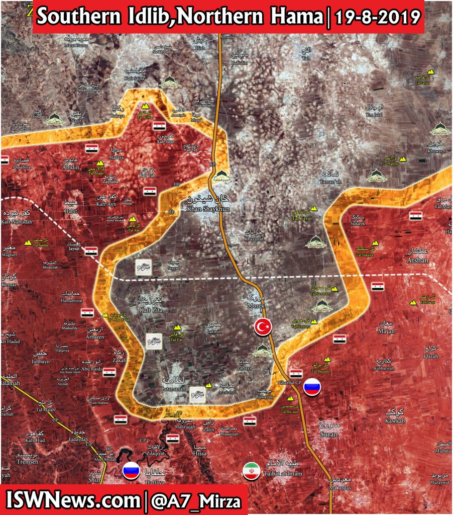 Map: Latest Military Situation on Northern Hama and Southern ... on countries of uae, cities of uae, regions of uae, states of uae, geographical features of uae, national flag of uae, peninsulas of uae,