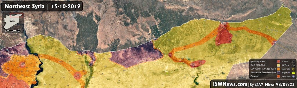 Map: Latest Military Situation on Northeast of Syria, 15 ...