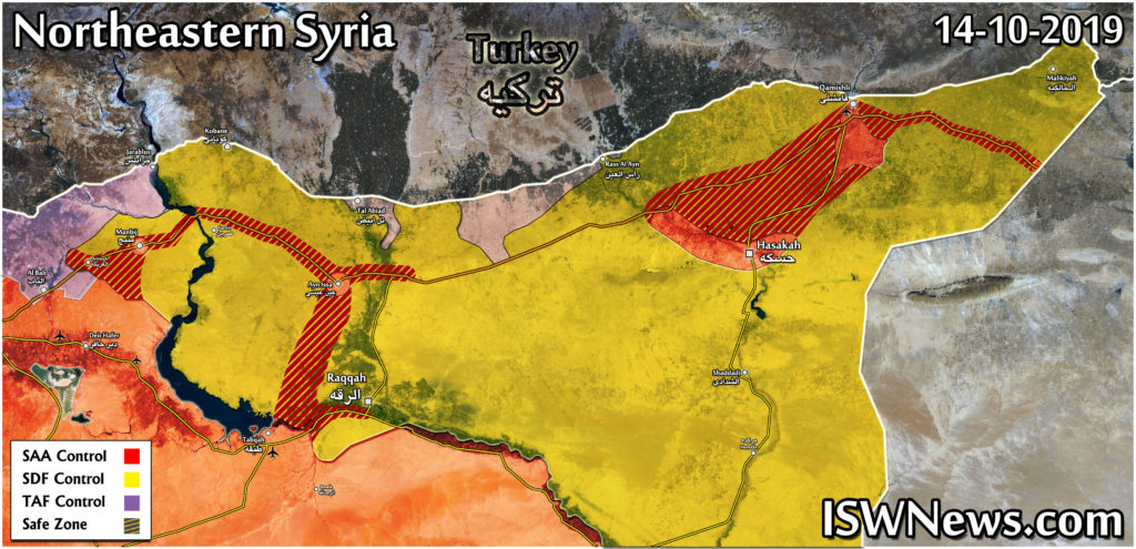Map: What Is Happening in East of Euphrates? – IWN