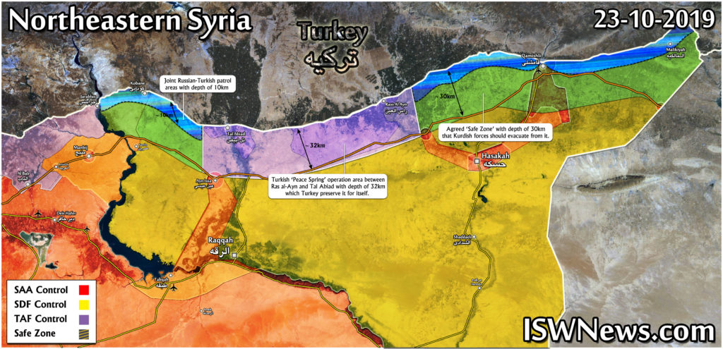 Map: Latest Military Situation in northeast of Syria after ...