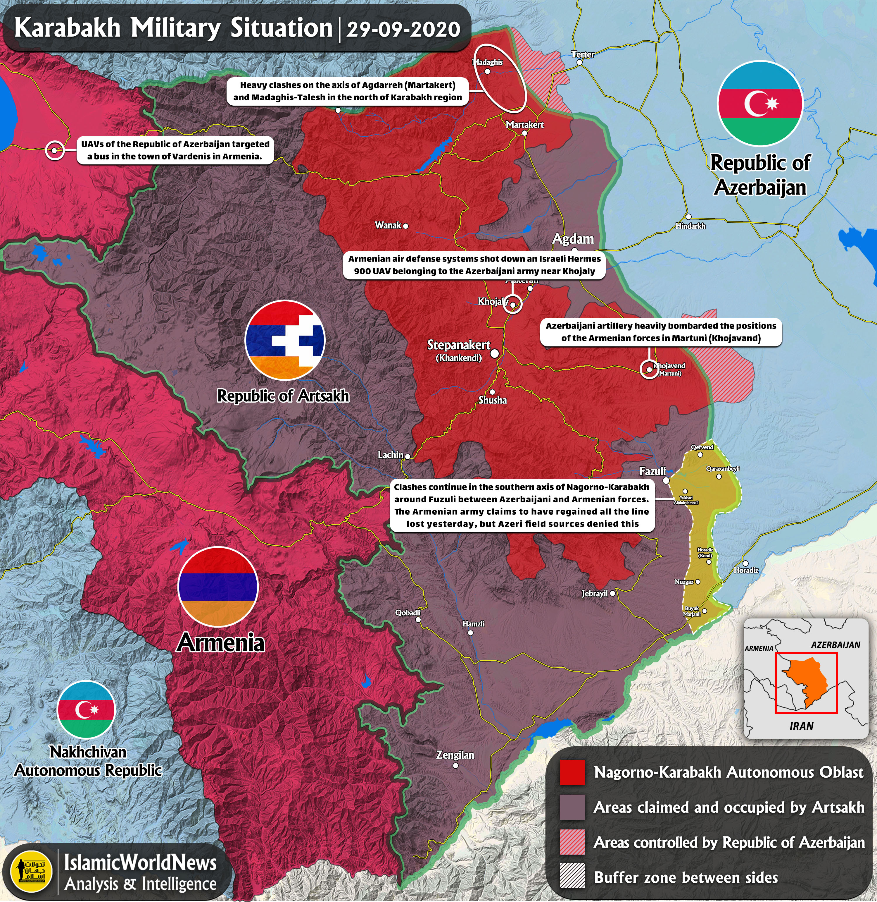 Picture of: Latest Updates On Karabakh Clashes 29 September 2020 Map Update Iwn