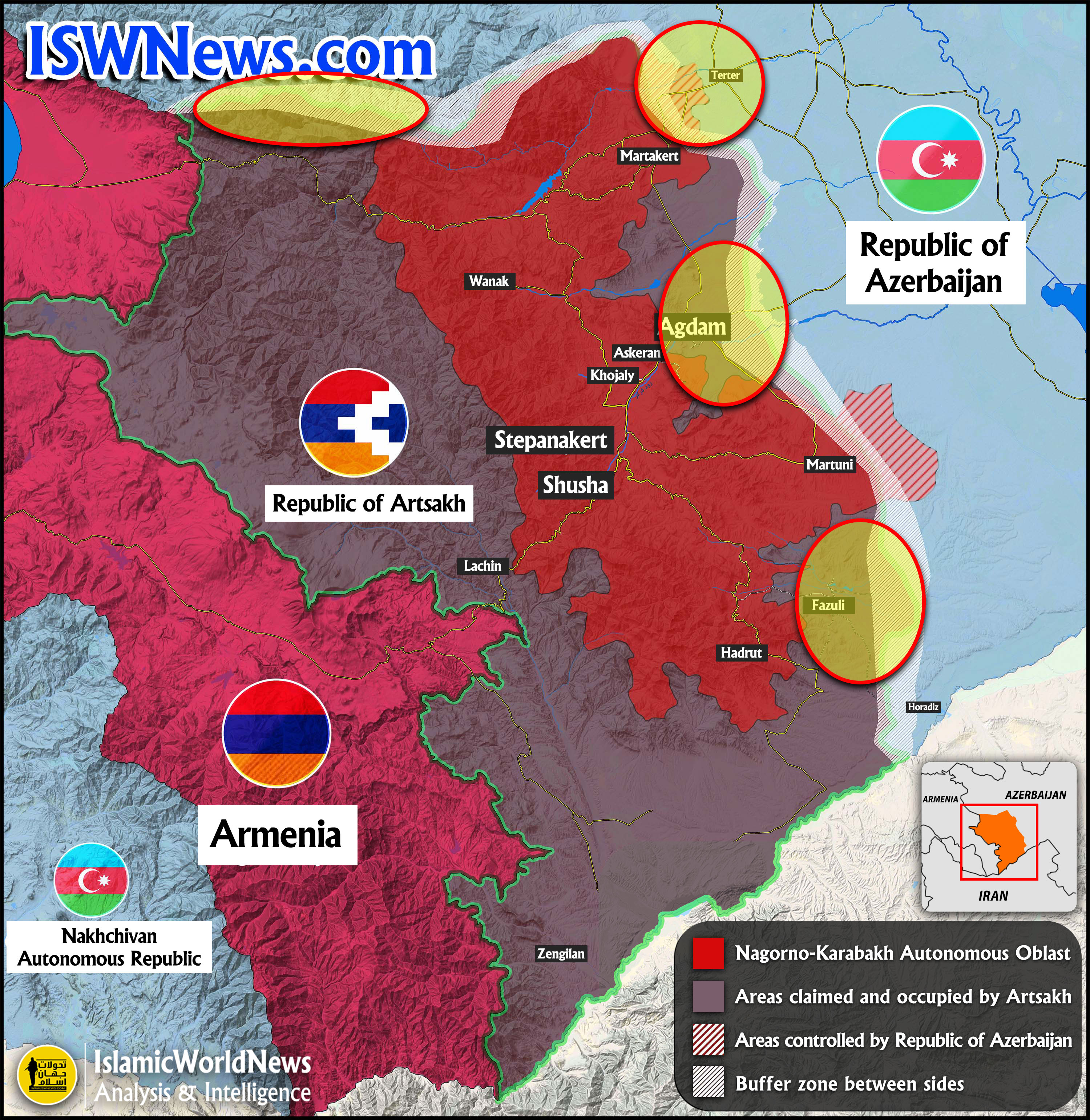 Heavy Clashes Between Azerbaijan And Armenia Armies In Karabakh Map Update Izwest Livejournal